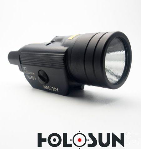 laser a svítilna holosun