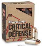 Hornady 45 Auto FTX Critical Defense 12 g / 185 grs