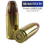 Magtech 9 mm Luger Subsonic JHP 9,52 g