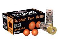 nesmrtící brokový náboj Sterling 12/70 Rubber Two Balls 6g