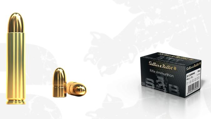 Kulový náboj S&B 30 Carbine FMJ