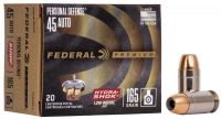 Federal .45 ACP Hydrashok 10,7 g / 165 grs 20 ks