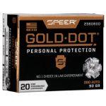 Náboj Speer .380 Auto Gold Dot 5,8 g / 90 grs 20 ks