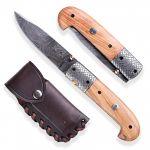 damaškový nůž Dellinger Olive Sentinel