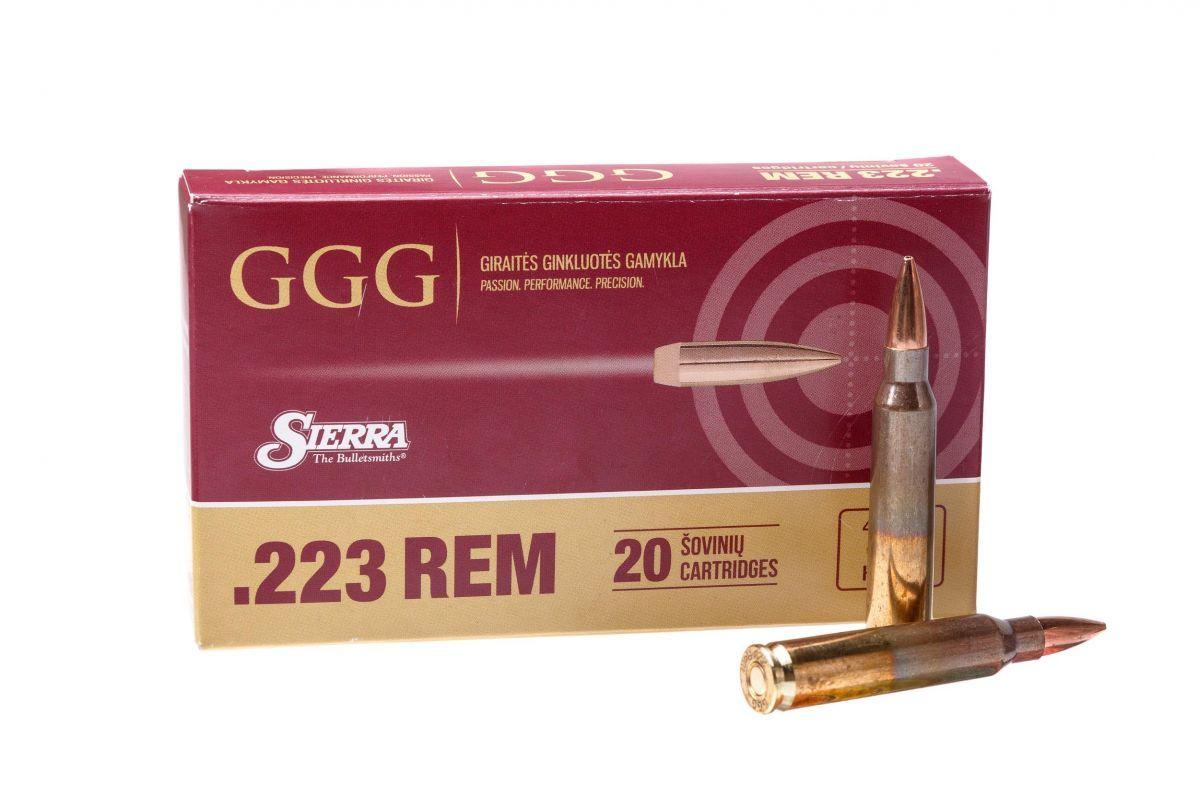 Puškové náboje GGG .223 Rem. 69 gr hpbt sierra