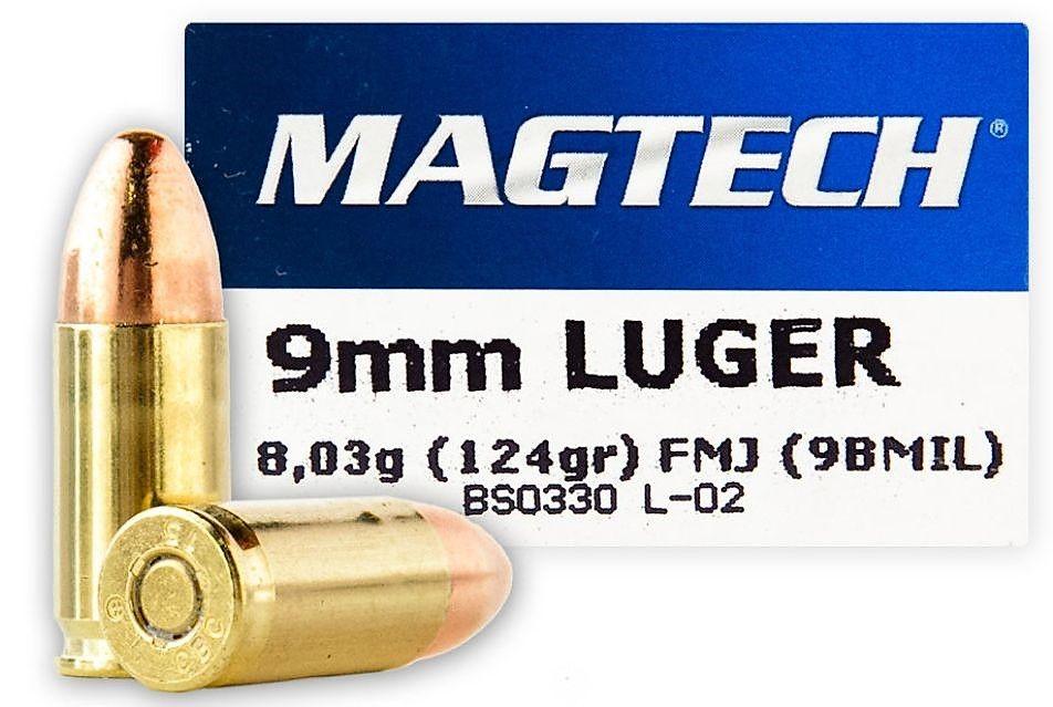 Náboj Magtech 9 mm Luger FMJ 8 g
