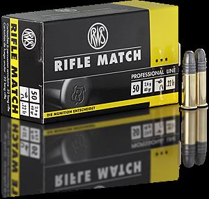 Malorážkový náboj RWS Rifle Match 22 LR