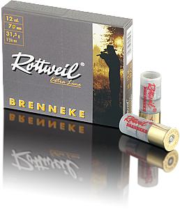 Náboj Rottweil 12/70 Brenneke