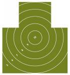 Terč Nekrytě ležící postava s kruhy redukovaná