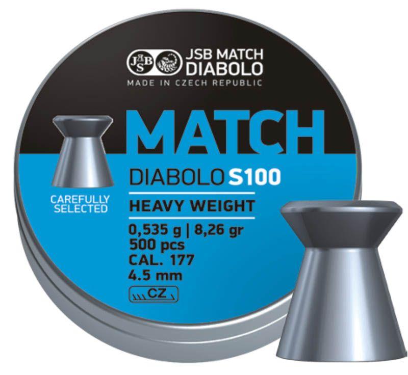 diabolky JSB Blue Match Diabolo S100 4,50