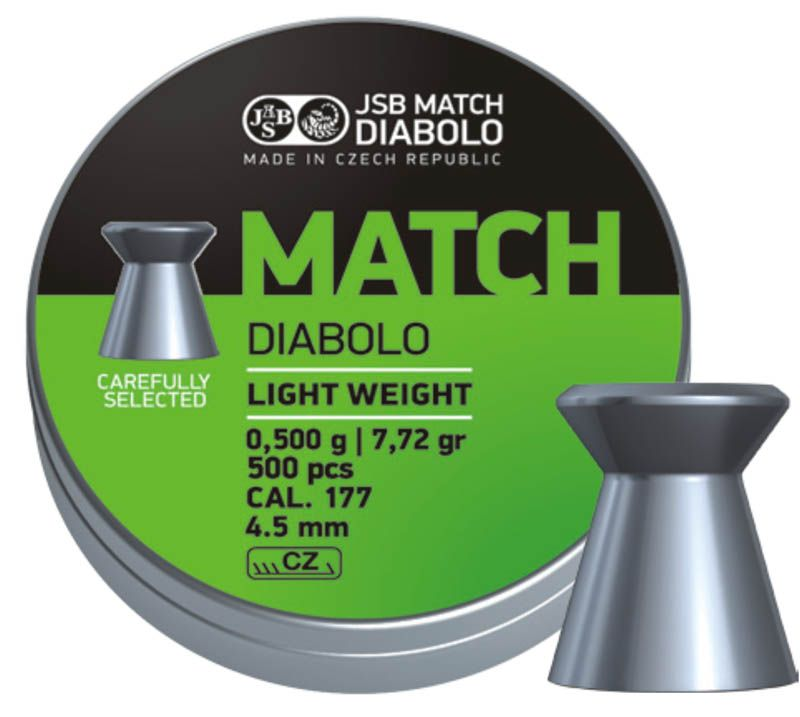 JSB Green Match Diabolo Light Weight 4,50