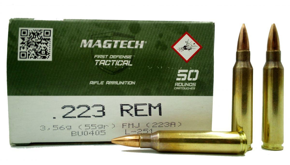kulový náboj Magtech 223 Rem FMJ
