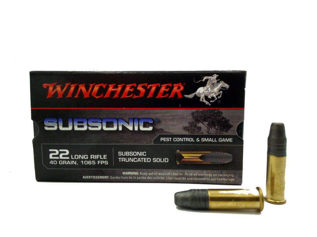 Malorážkový náboj Winchester 22 LR Subsonic 40 gr