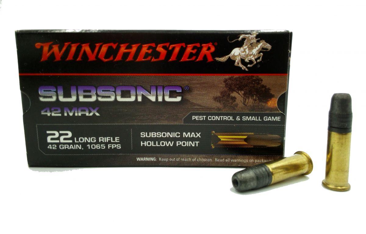malorážkový náboj Winchester 22 LR Subsonic Max