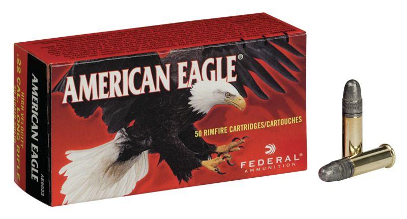 Malorážkový náboj Federal 22 LR American Eagle HV
