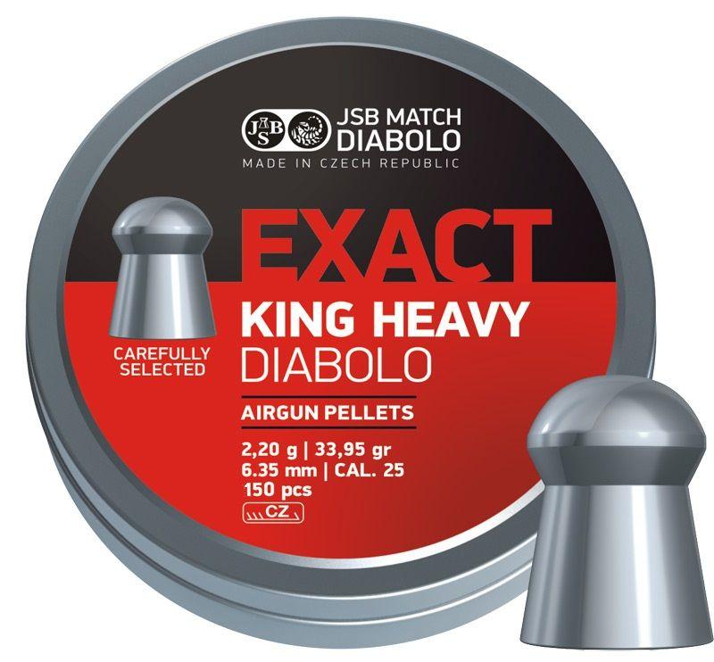 diabolky JSB Exact King Heavy 6,35 300ks