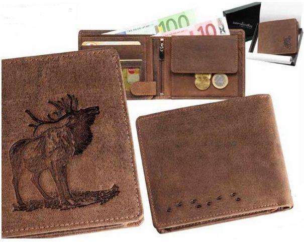 peněženka troubící jelen