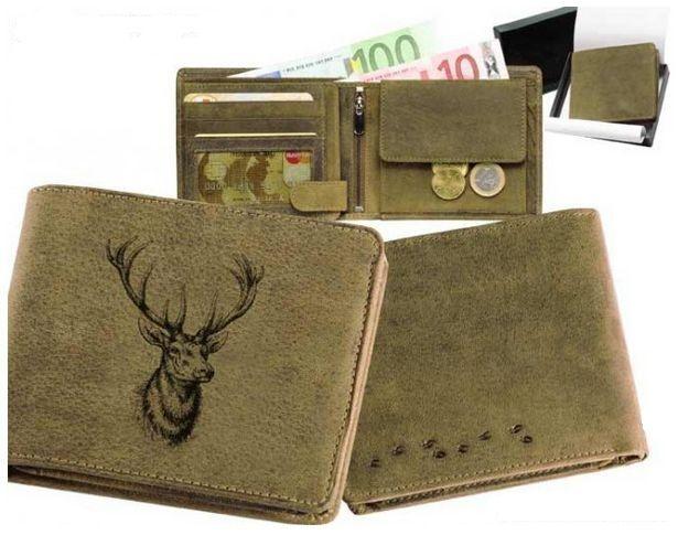 peněženka hlava jelena