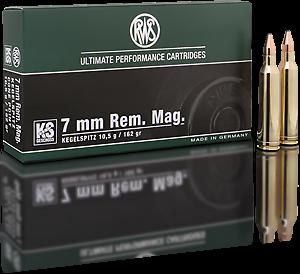 Kulový náboj RWS 7 mm Rem Mag KS