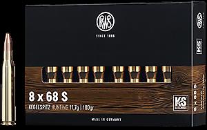 Lovecký náboj RWS 8x68 S se střelou KS 11,7 g