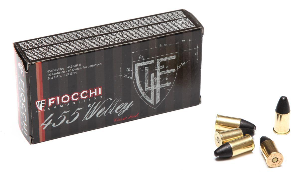 Revolverový náboj Fiocchi 455 Webley LRN