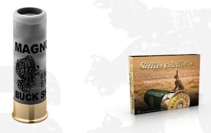 Lovecký náboj S&B 12/76 Buck Shot Magnum53 g