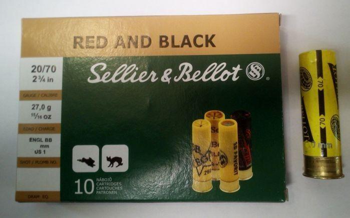 Brokový náboj 20/70 Red&Black papír
