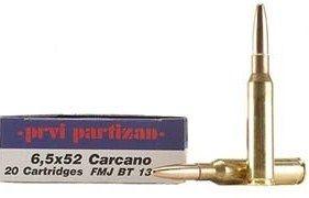 Kulový náboj PPU 6,5x52 Carcano FMJ