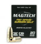 Magtech 9 mm Luger JHP Guardian Gold 8g