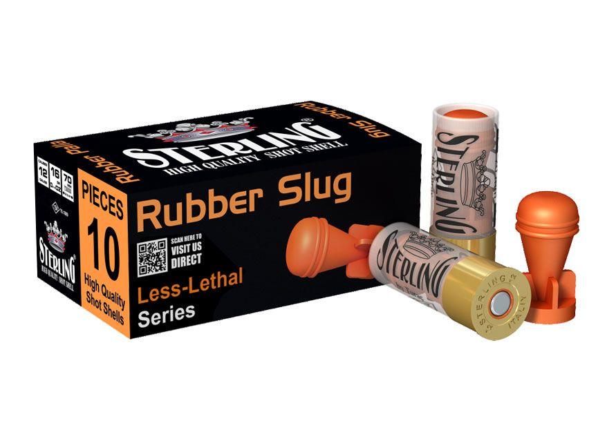 pryžový gumový slug 12 nesmrtící