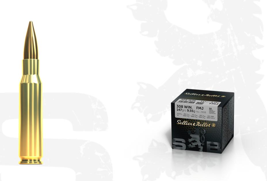 Kulový náboj SB 308 Win FMJ 9,55g