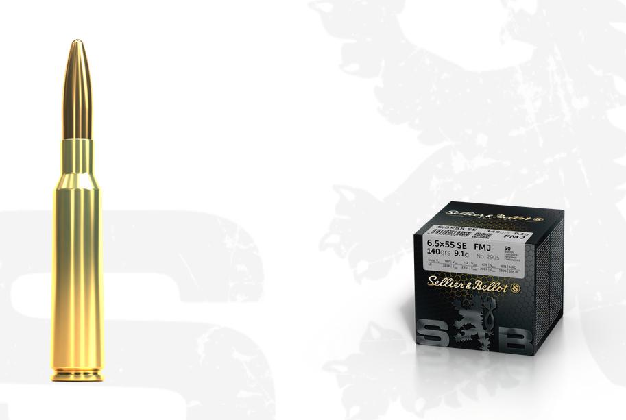Kulový náboj S&B 6,5x55 SE FMJ sypačky