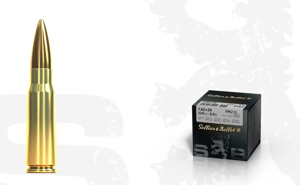 Náboj S&B 7,62x39 FMJ sypačky